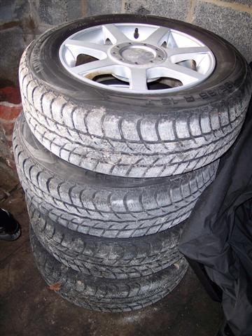 """Jantes WMS 15"""" 6,5J x15 H2 ET40 + pneus hiver Uniroyal ..."""